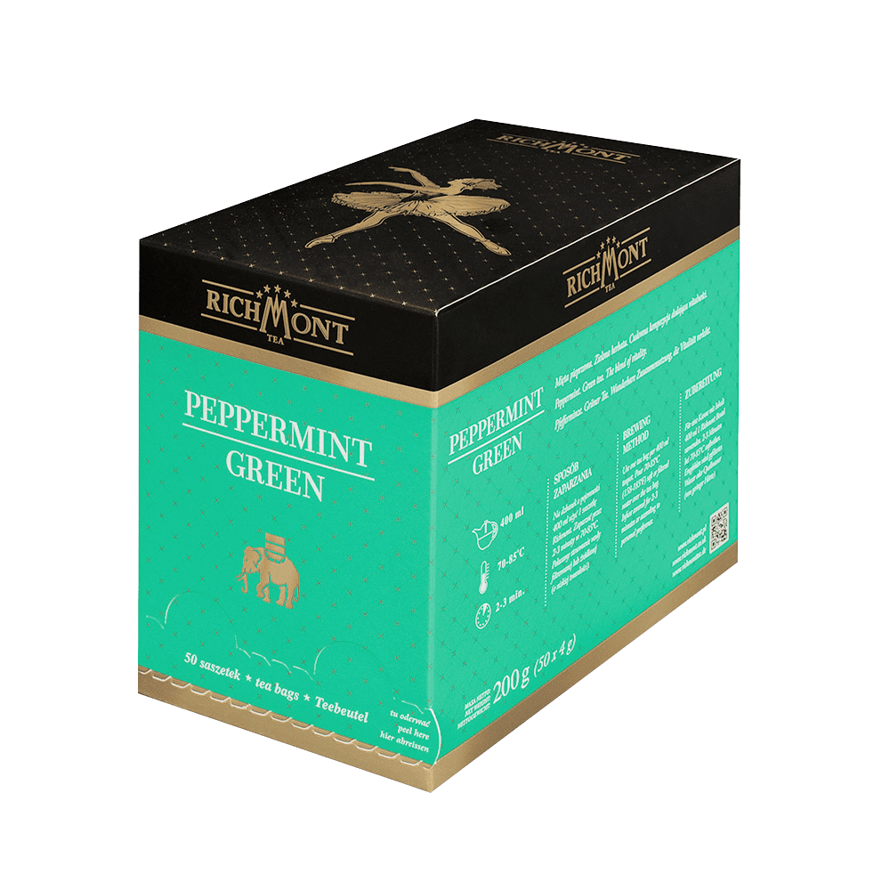 Zielona Herbata Richmont Peppermint Green 50 Saszetek