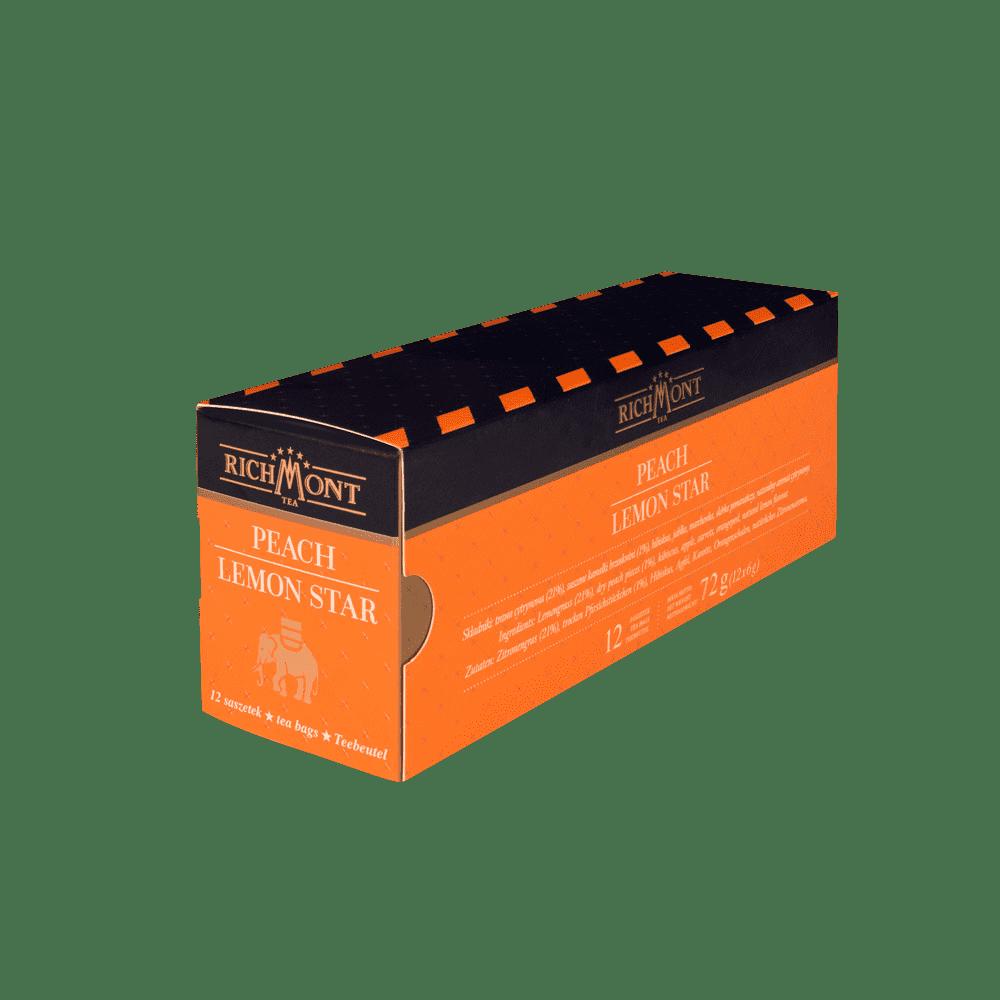Owocowa Herbata Richmont Peach Lemon 12 saszetek