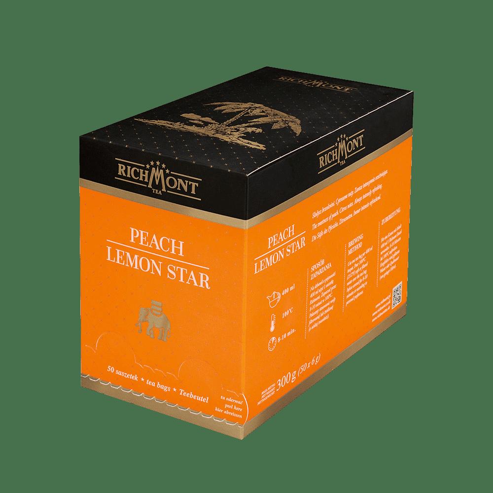 Owocowa Herbata Richmont Peach Lemon Star 50 Saszetek