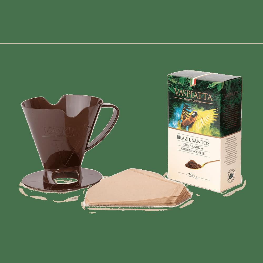 Vaspiatta Zestaw Do Zaparzania Kawy Brazil Santos 250g