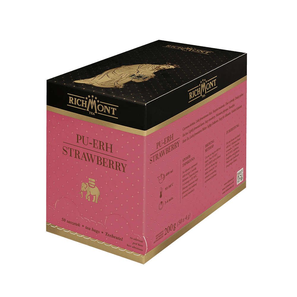 Czerwona Herbata Richmont Pu-Erh Strawberry 50 Saszetek