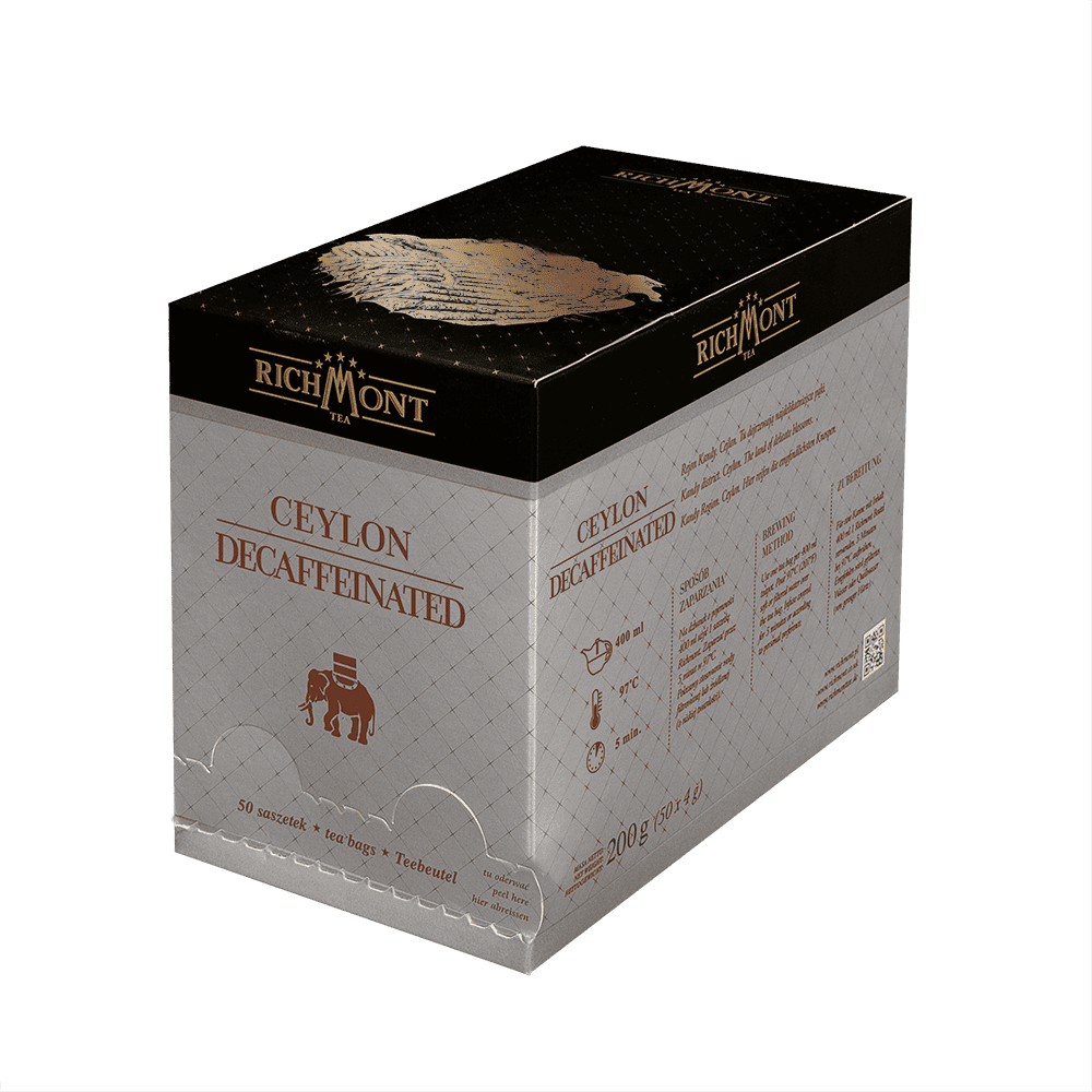 Czarna Herbata Richmont Decaffeinated 50 Saszetek