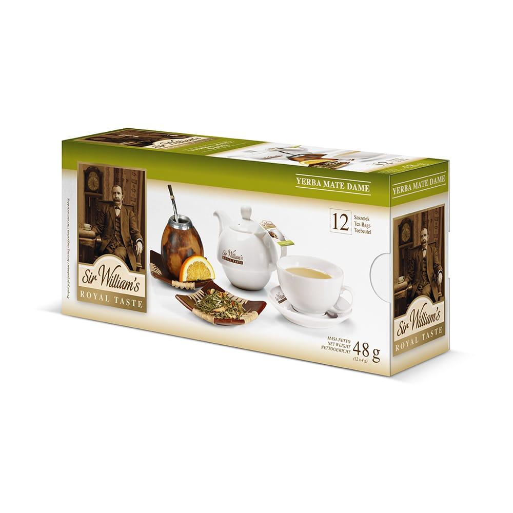 Ziołowa Herbata Sir William's Royal Yerba Mate Dame 12 Saszetek