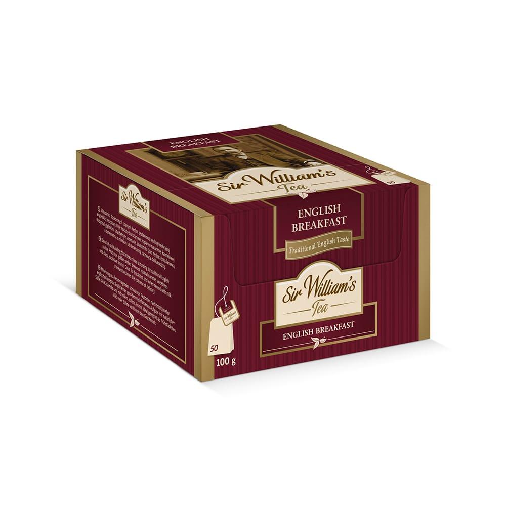 Czarna Herbata Sir William's Tea English Breakfast 50 Saszetek