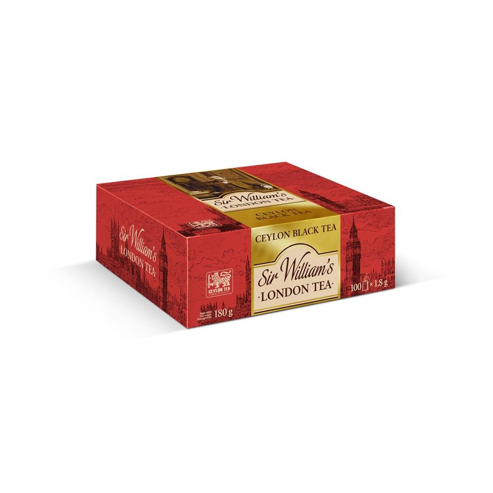 Czarna Herbata Sir William's London Ceylon Black 100 Saszetek