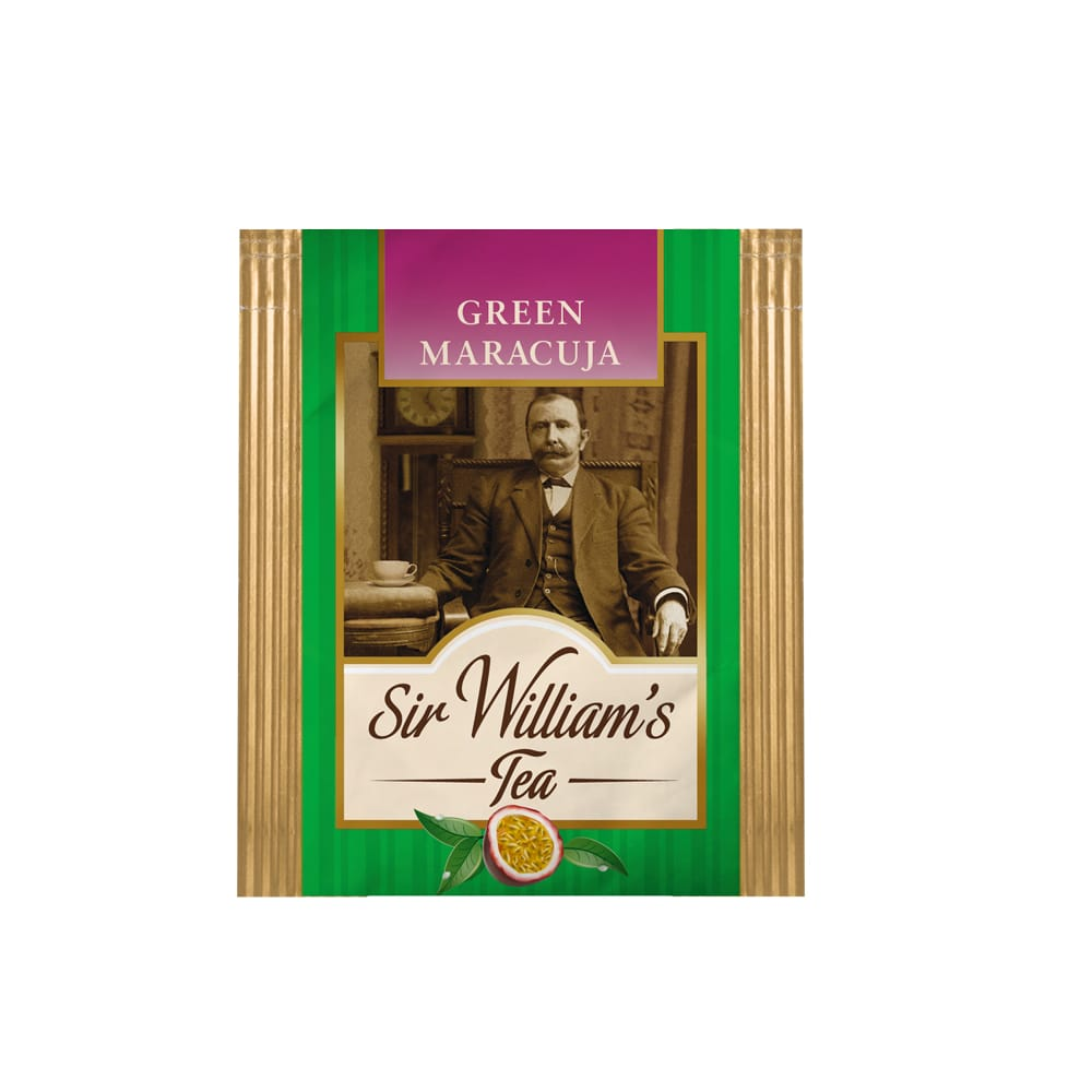 Zielona Herbata Sir William's Tea Green Maracuja 50 Saszetek