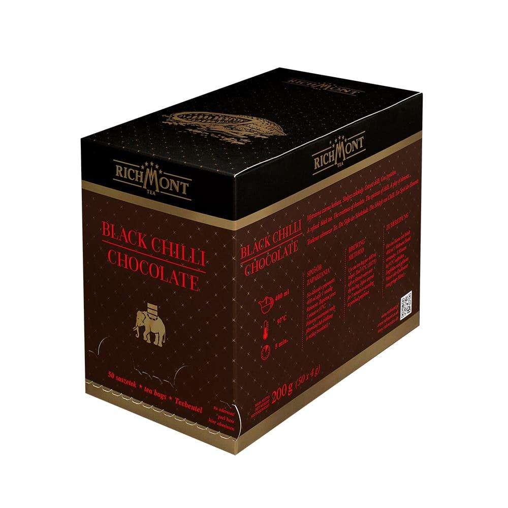 Czarna Herbata Richmont Black Chilli Chocolate 50 saszetek