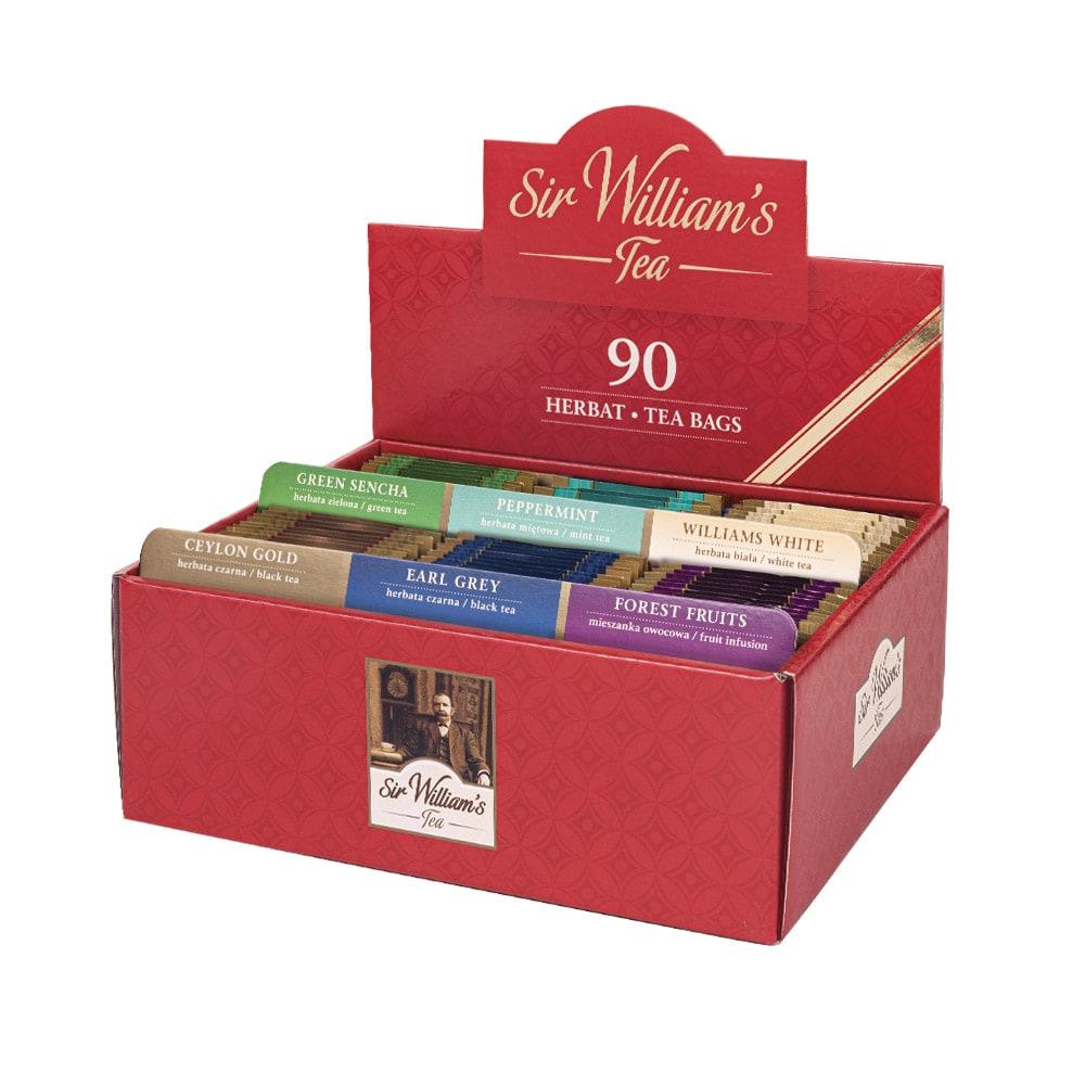 Tekturowy Prezenter Sir William's Tea 90 saszetek