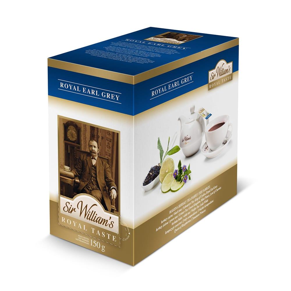 Czarna Herbata Sir William's Royal Earl Grey 50 Saszetek