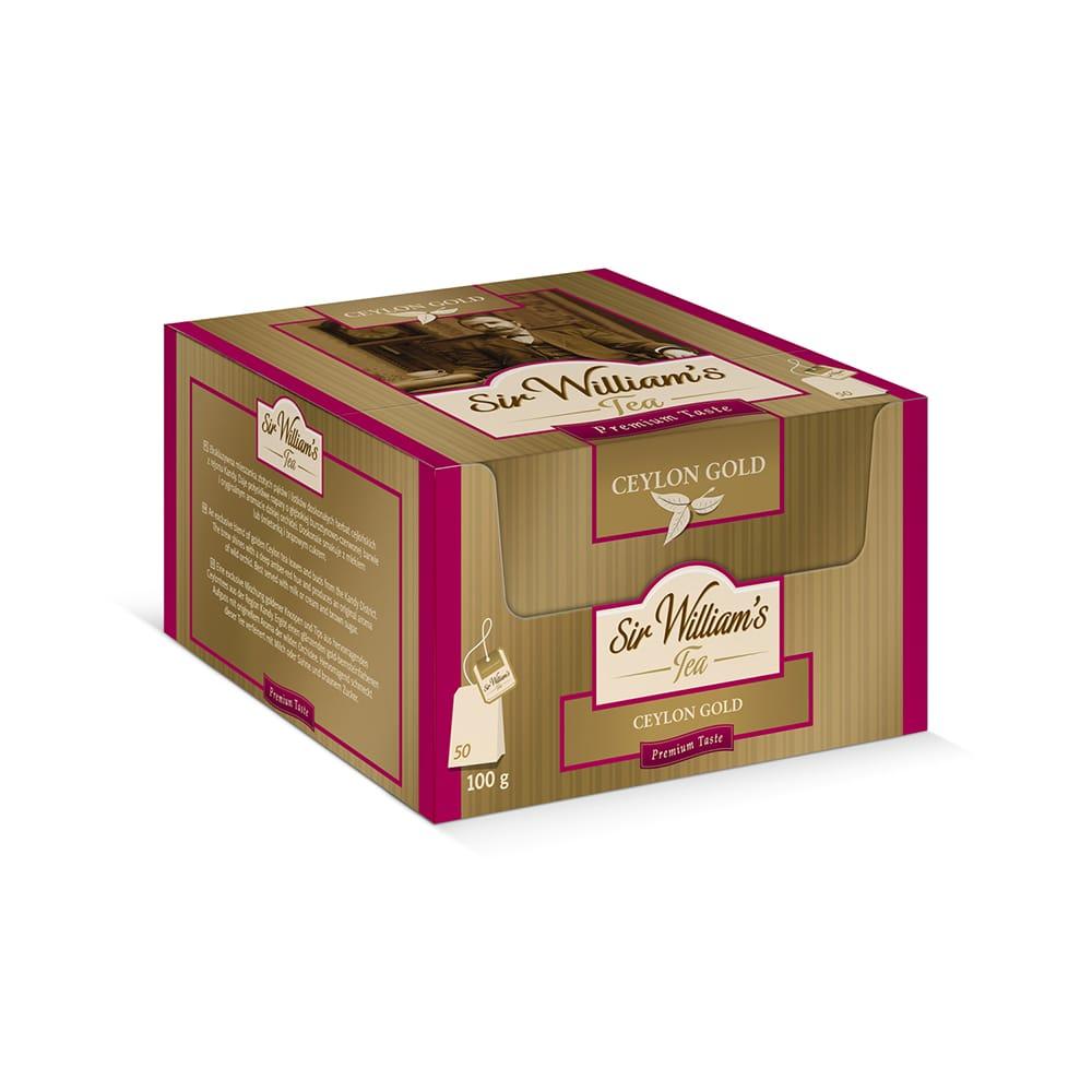 Herbata Czarna Sir William's Tea Ceylon Gold 50 Saszetek