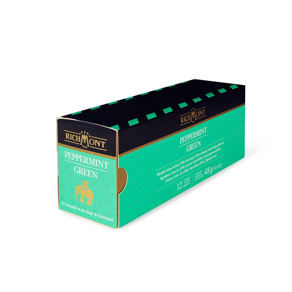 Zielona Herbata Richmont Peppermint Green 12 Saszetek