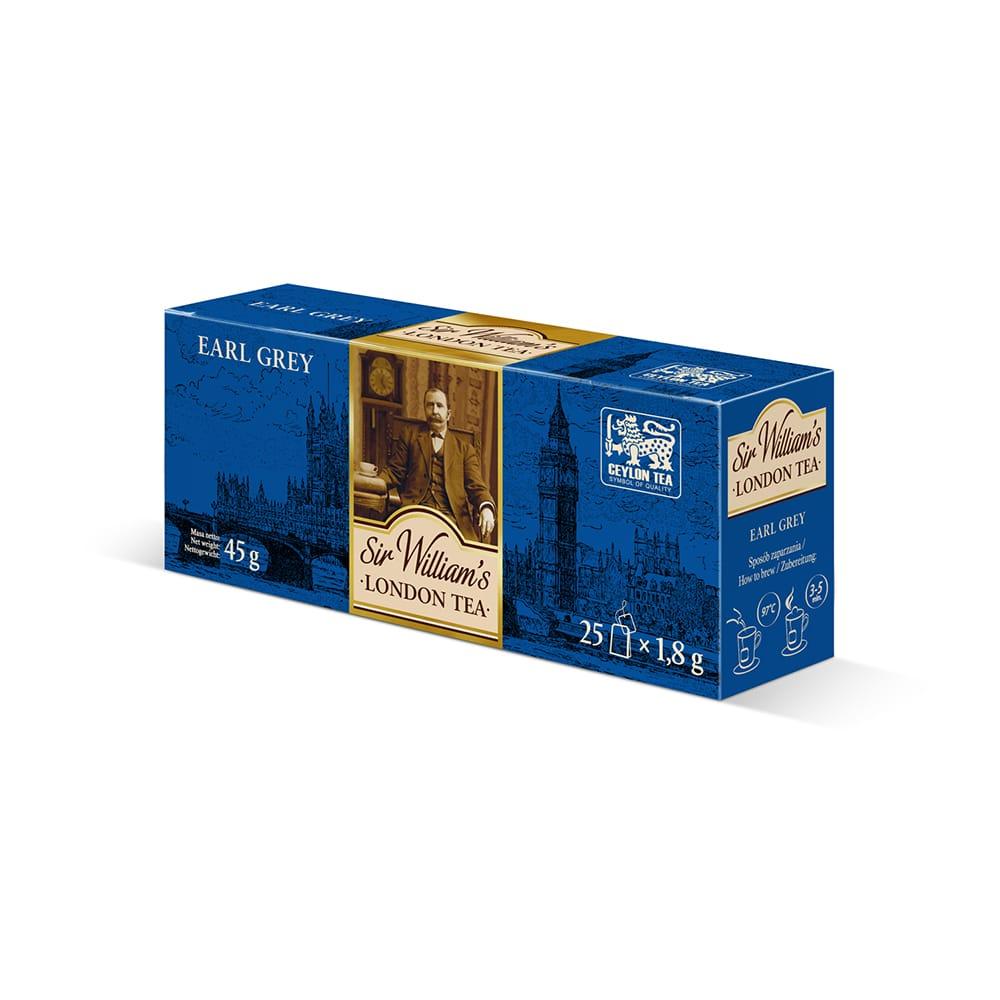 Czarna Herbata Sir William's London Earl Grey 25 Saszetek