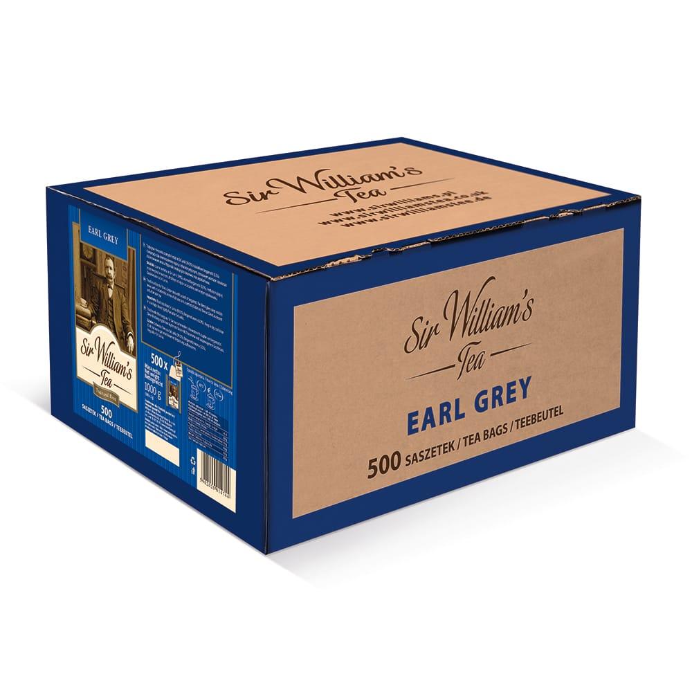 Czarna Herbata Sir William's Tea Earl Grey 500 Saszetek