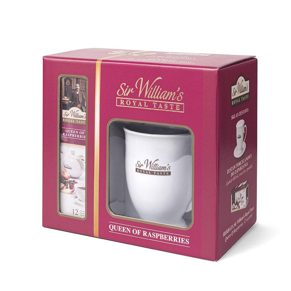 Zestaw Do Zaparzania & Herbata Sir William's Royal Taste Queen Of Raspberries 12 saszetek