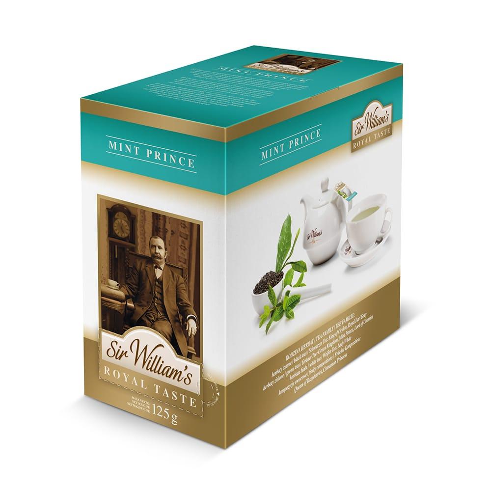 Zielona Herbata Sir William's Royal Mint Prince 50 Saszetek