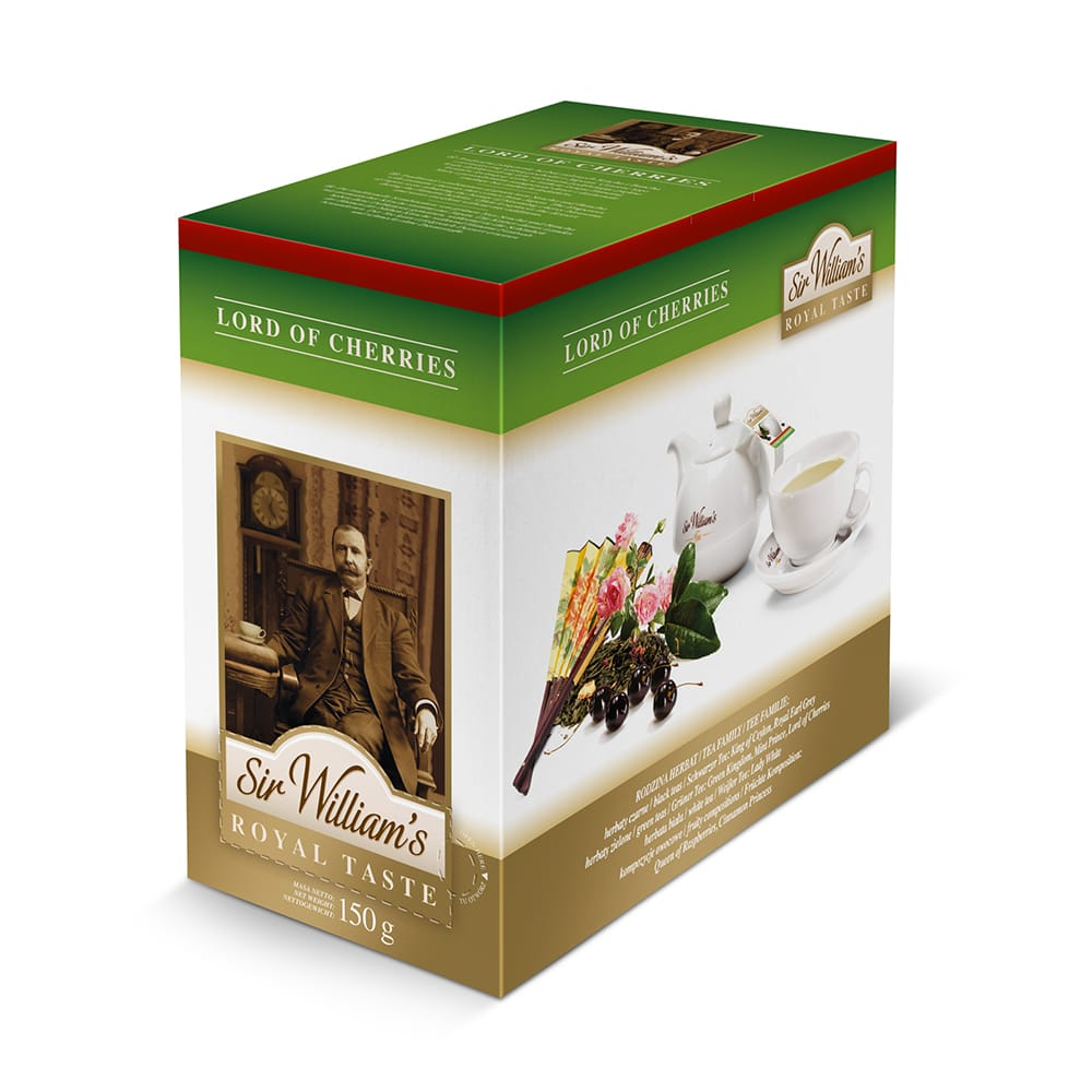 Zielona Herbata Sir William's Royal Lord Of Cherries 50 Saszetek