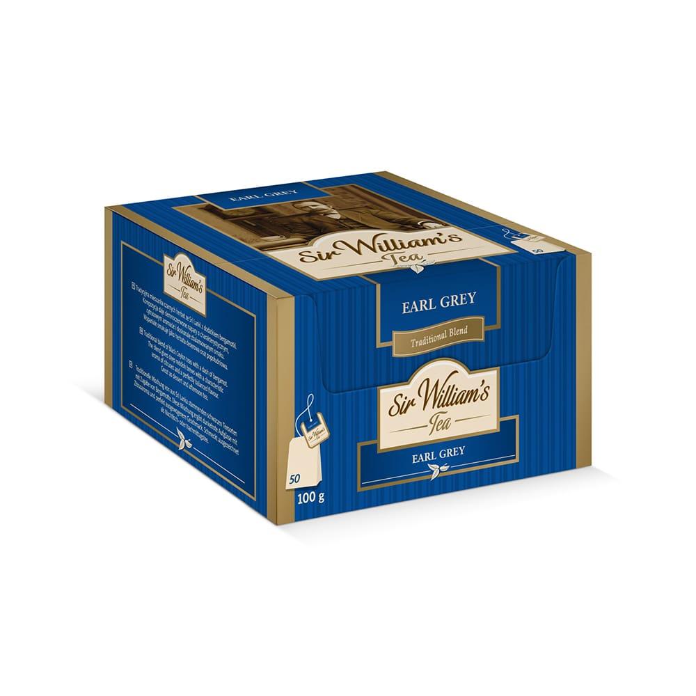 Czarna Herbata Sir William's Tea Earl Grey 50 saszetek