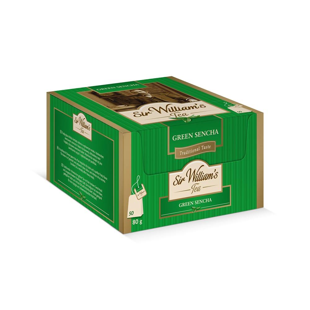 Zielona Herbata Sir William's Tea Green Sencha 50 Saszetek