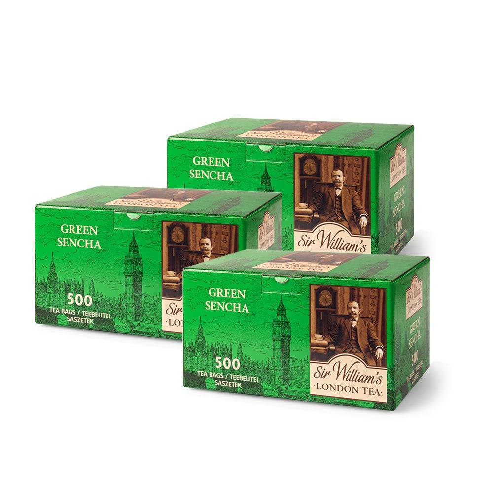 Pakiet 3 X Herbata Sir William's London Green Sencha 500 Szt.