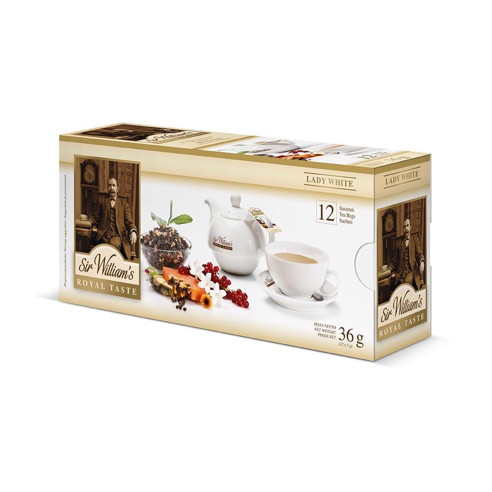 Biała Herbata Sir William's Royal Lady White 12 Saszetek