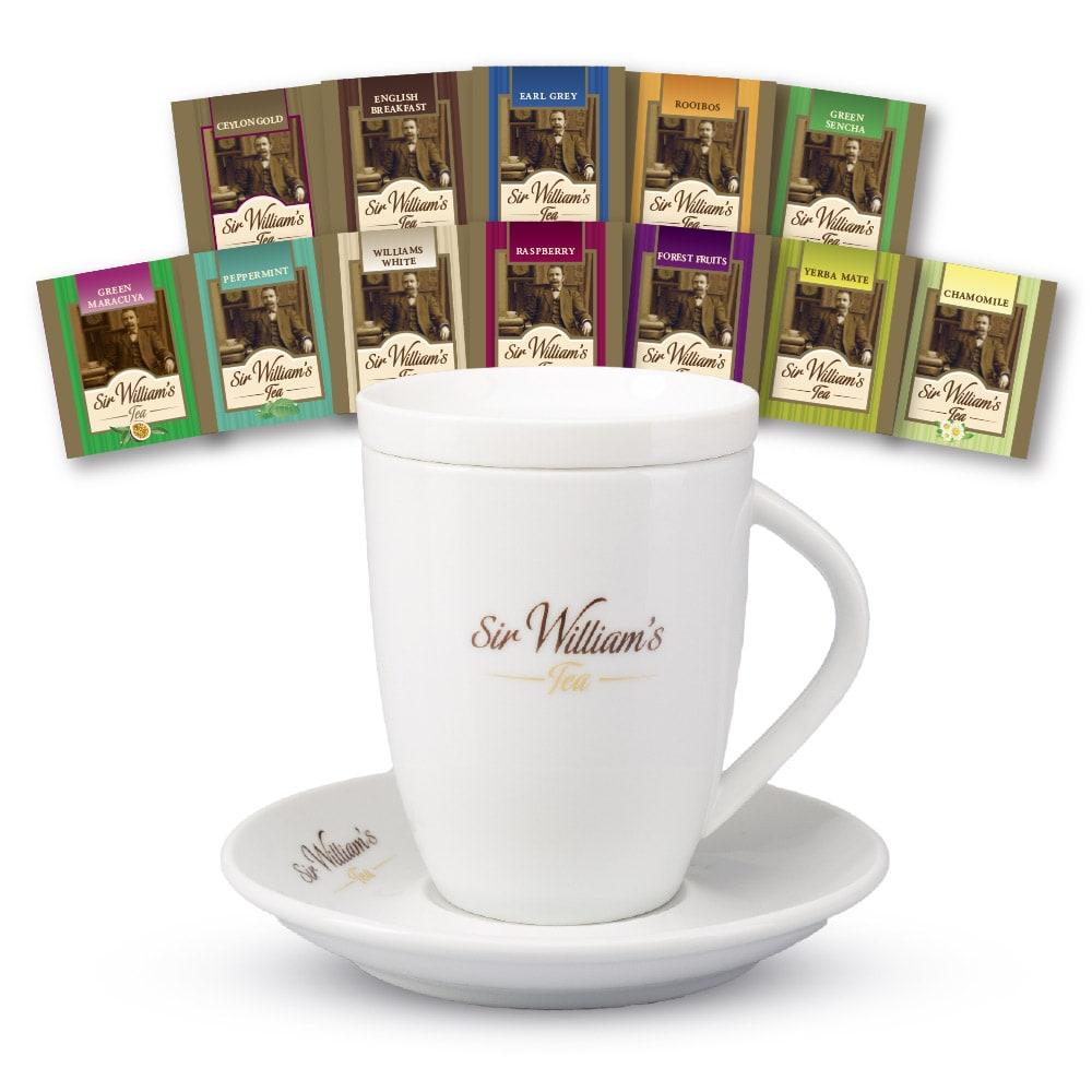 Zestaw Porcelanowy Sir William's Tea & 12 Herbat