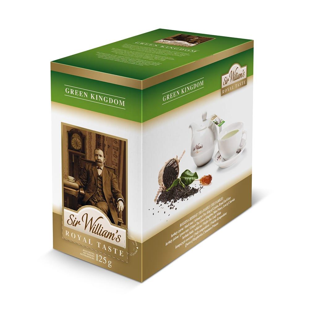 Zielona Herbata Sir William's Royal Green Kingdom 50 Saszetek