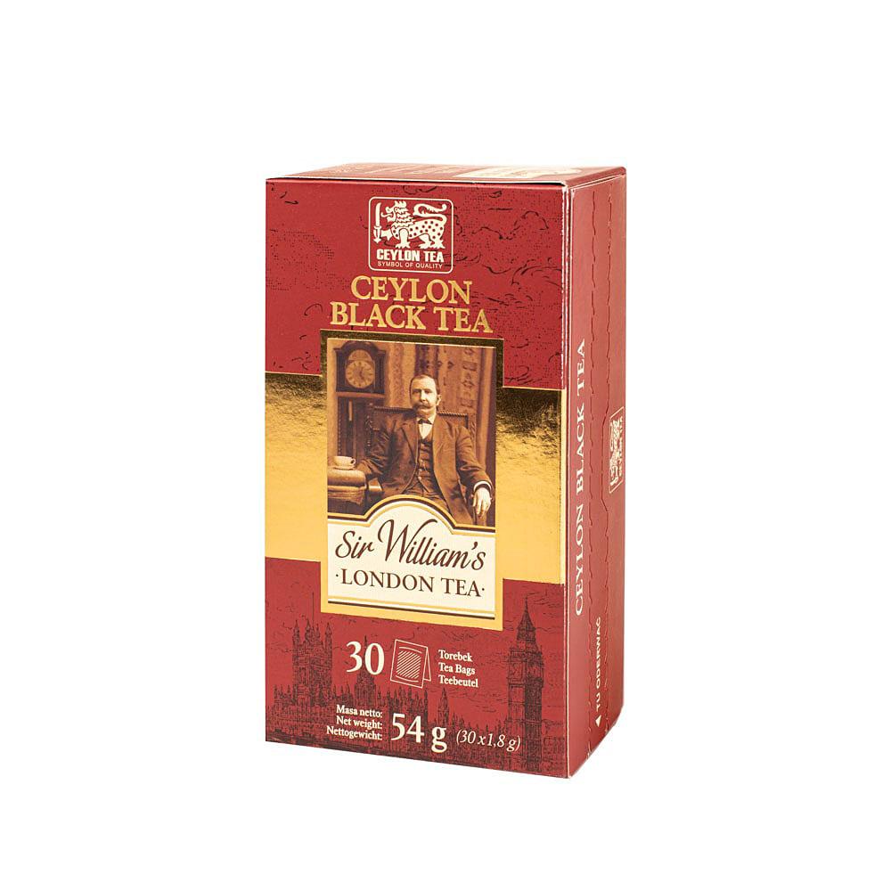 Czarna Herbata Sir William's London Tea Ceylon Black 30 Saszetek