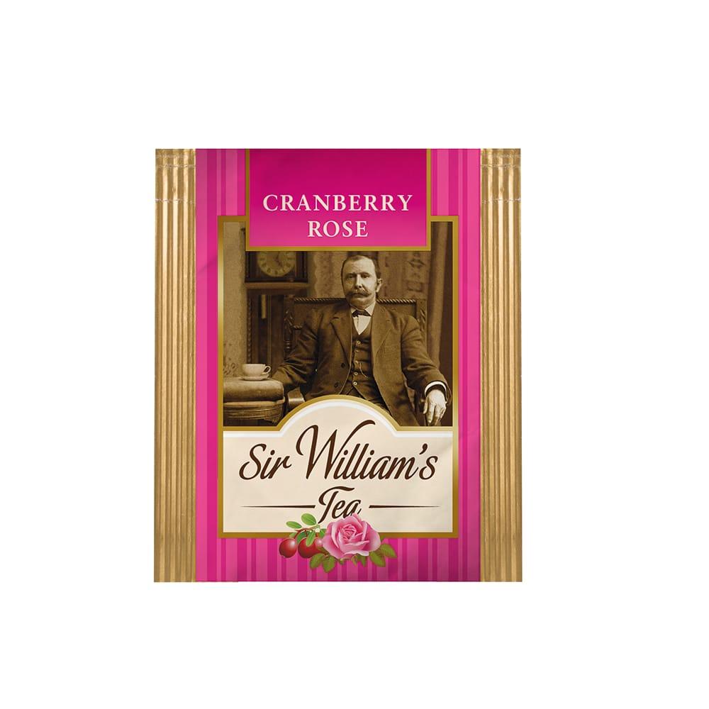 Owocowa Herbata Sir William's Tea Cranberry Rose 50 Saszetek